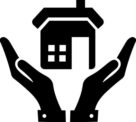 open hands   home svg png icon