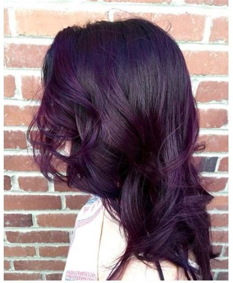 photos purple highlights for dark hair warm dark brown purple hair highlights for different hair colors in 2018