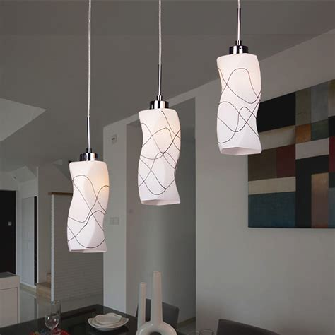Modern Glass Chandelier Ceiling Pendant Fixtures Light Bar Pendant Light Fixtures