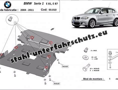 Bmw 1er E87 Unterbodenverkleidung by Unterfahrschutz F 252 R Motor Der Marke Bmw Seria 1 E81 E87