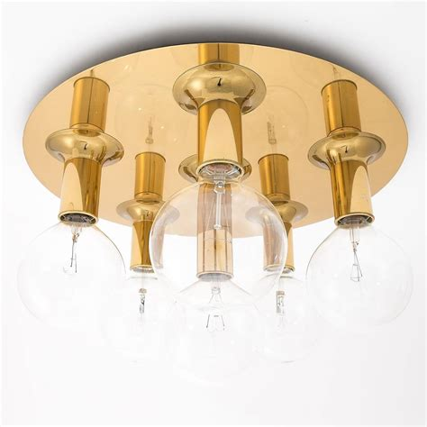 Flush Mount Sconce Lighting Brass Sputnik Flush Mount Or Wall Light Fixture Sconce By