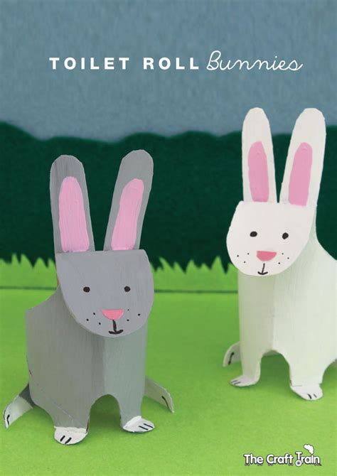 Paper Towel Arts And Crafts - toilet roll bunnies the craft