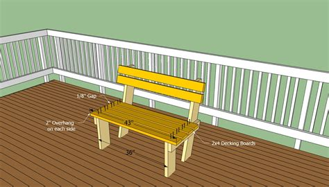 build deck bench deck bench plans free howtospecialist how to build step by step diy plans