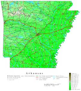 arkansas contour map