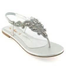 silver dressy flat sandals formal flat silver sandals for wedding flat