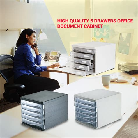 High Quality 5 Drawers Layer Files Archivador Container Cabinet Office | high quality 5 drawers layer files archivador container