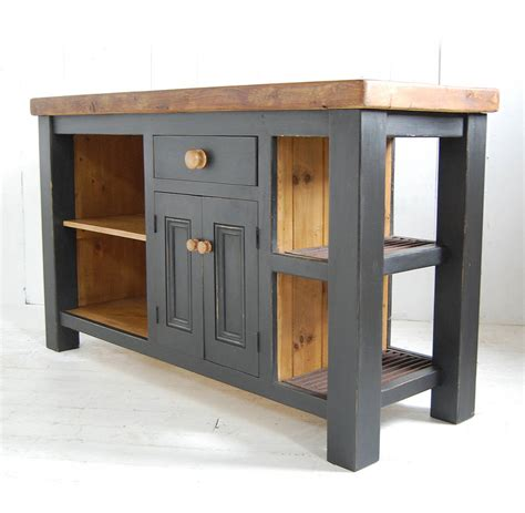 wood kitchen island reclaimed wood kitchen island cupboard by eastburn country furniture notonthehighstreet com