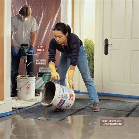 how to level a basement floor how to level uneven concrete floors for maximum flatness diy ideas dips
