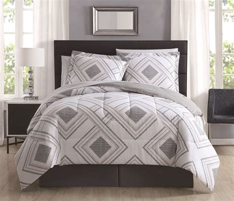 8 piece harwich stone gray reversible comforter set with