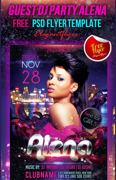 disco flyer template party disco club flyer template for