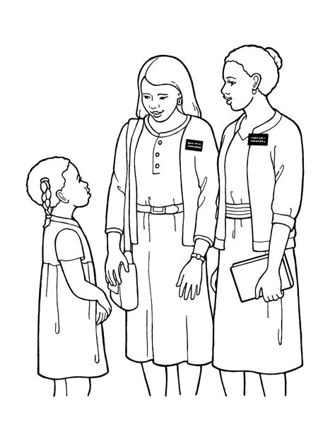 coloring pages christian missionaries sister missionaries