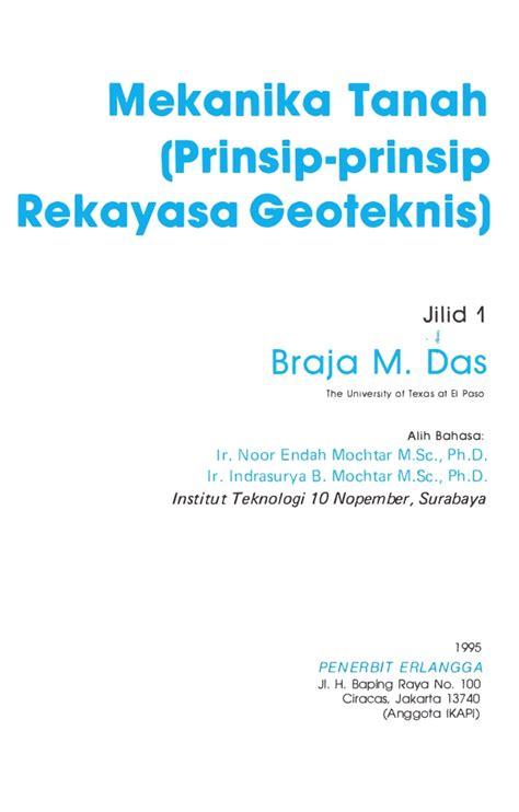 Mekanika Tanah Penerbitnova Mekanika Tanah Jilid 1 Braja M Das