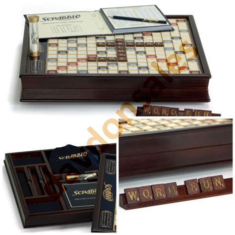store scrabble scrabble with turntable deluxe wood tile board set