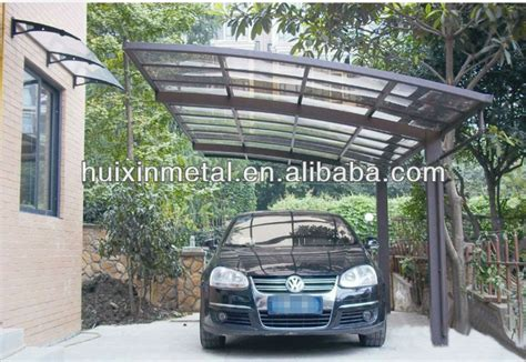 metal awnings for cars all aluminium solid polycarbonate awning metal two cars