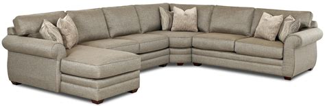 klaussner sectional sofa klaussner clanton transitional sectional sofa with left