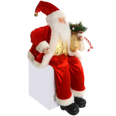 50cm 20 quot red suit sitting santa claus christmas mantle