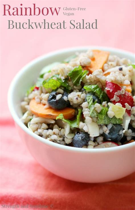 rainbow buckwheat salad recipe cold side dishes