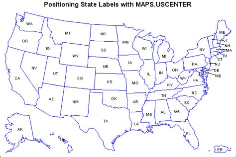 map of the united states with abbreviations sle 25557 assign a format to a response variable