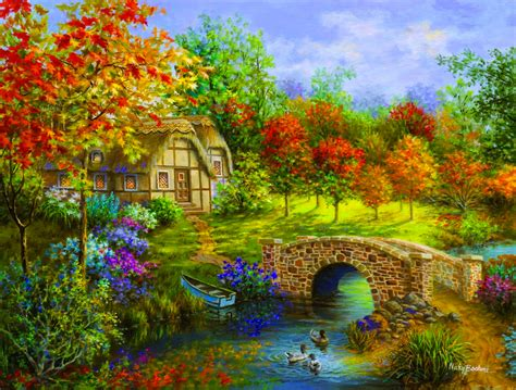 Country Cottage Cross Stitch extra large jigsaw puzzles giant puzzles not for the