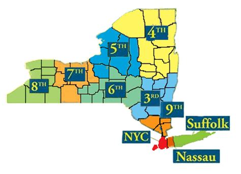 map of new york state judicial districts where could i work new york state court officer trainee
