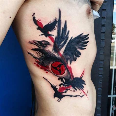 trash polka black crows tattoo  ribs entertainmentmesh