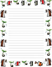 Free Writing Paper With Borders Apple Border Writing Paper Writing Paper Borders