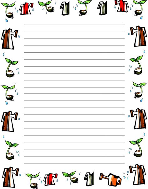 Free Writing Paper Template With Borders 8 best images of printable writing sheets with borders