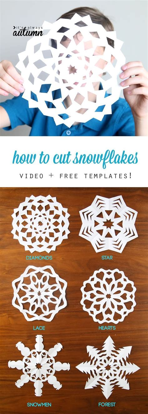 Cut Out Paper Crafts - 25 best ideas about snowflake template on