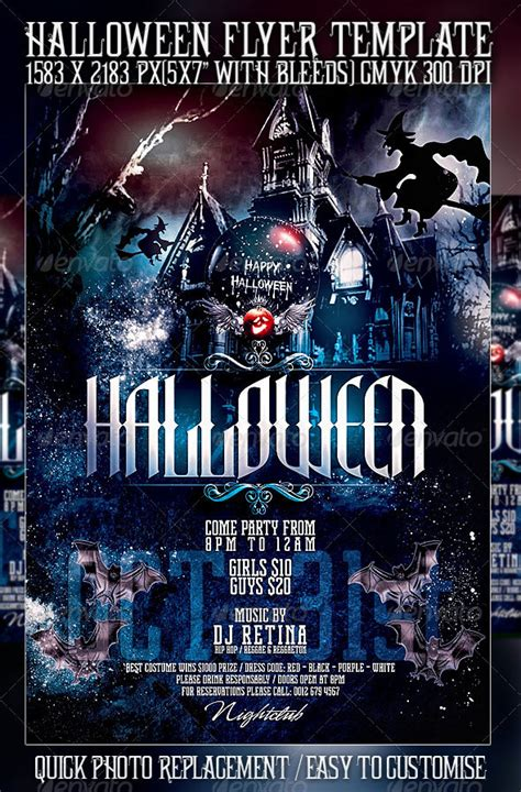 template photoshop halloween 23 wicked halloween psd flyer templates web graphic
