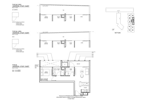 Robertson 100 Floor Plan by 1 Bedroom Study Up Robertson Quay