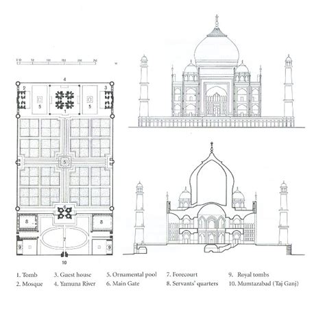 taj mahal floor plan taj mahal section plan of the taj mahal architecture