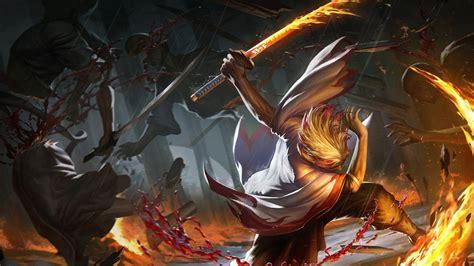 demon slayer sword warrior kyojuro rengoku hd anime