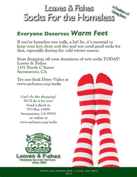 Socks For The Homeless Sock Drive Flyer Template