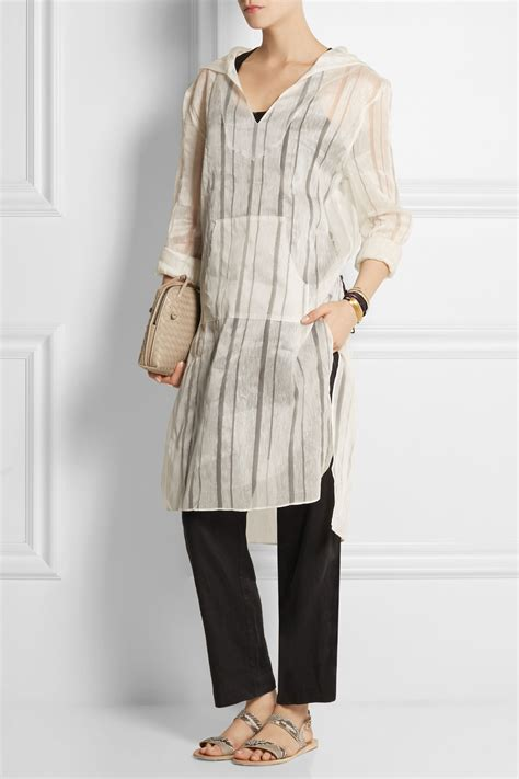 2 Die 4 Missoni Abbie Woven Tunic by Baja East Hooded Linen And Silk Blend Tunic In White Lyst