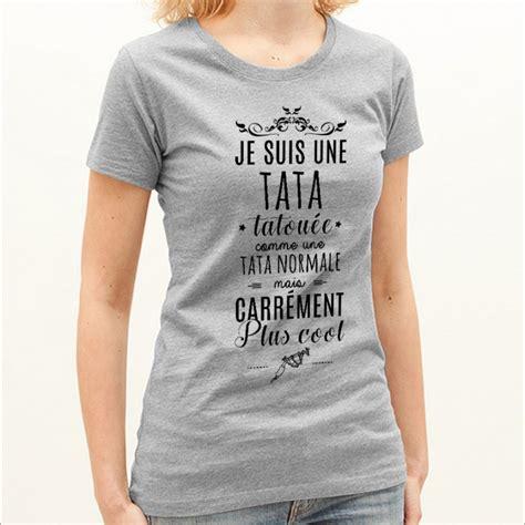 Tshirt Jesuis Une t shirt femme gris je suis une tata tatou 233 e