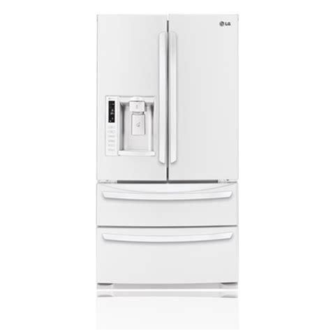 white 4 door door refrigerator lg lmx28988sw 28 cu ft ultra large capacity 4 door