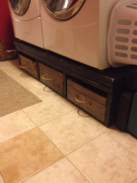 Diy Laundry Pedestal With Drawers by Washer And Dryer Pedestal With Pallet Wood Boxes For