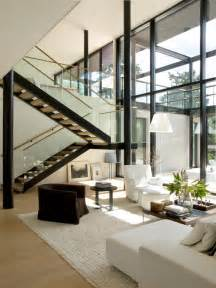 modern home interior decorating modern villa snow white design by helin co architects