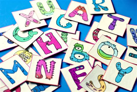 free printable monster alphabet letters free printable activities for the kids mother s mementos