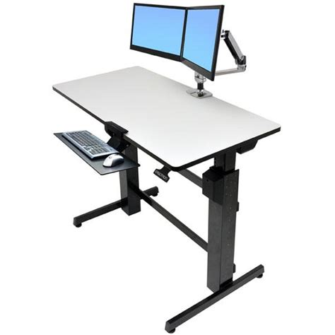 ergotron standing desk accessories amazon com ergotron workfit d sit stand desk light grey