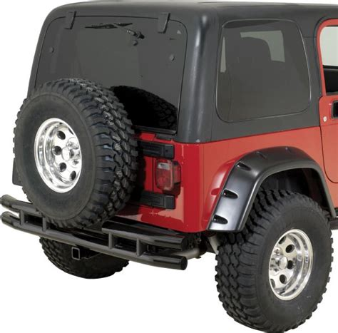 Jeep Yj Rear Bumper Rugged Ridge Rear Bumper With Hitch For 87 06