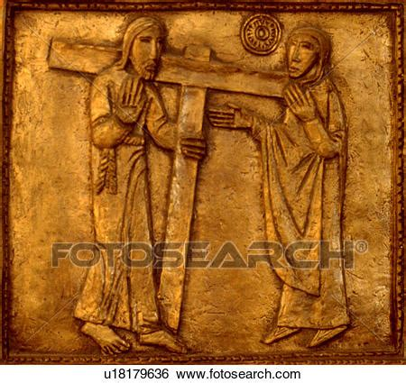 Cross Number Search Stock Images Of Stations Of The Cross Number Four Jesus Carrying Cross With