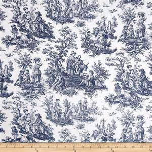 Gray Shower Curtain Fabric Waverly Rustic Life Toile Navy Discount Designer Fabric