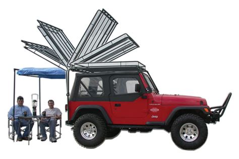 Jeep Tj Rack Olympic 4x4 Products Dave S Rack Cargo Carrier Sunshade