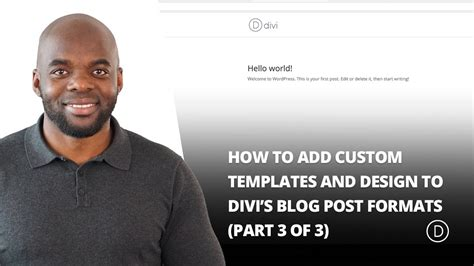 how to add custom templates and design to divi s blog post formats how to add custom templates and design to divi s blog post