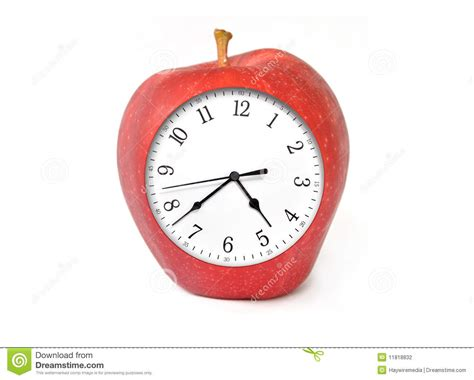 themes apple clock apple clock with time stock photography image 11818832
