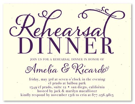 free wedding rehearsal invitations unique rehearsal dinner invitations on seeded paper at the touch of by foreverfiances