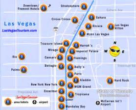 Strip Map Las Vegas by Las Vegas Strip Map Las Vegas Nevada Strip Map