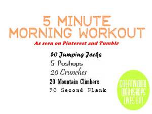 fitness friday 5 minute morning routine