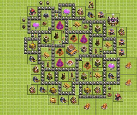 layout coc th 4 jalan tikus base town war clash of clans terbaik download game pc